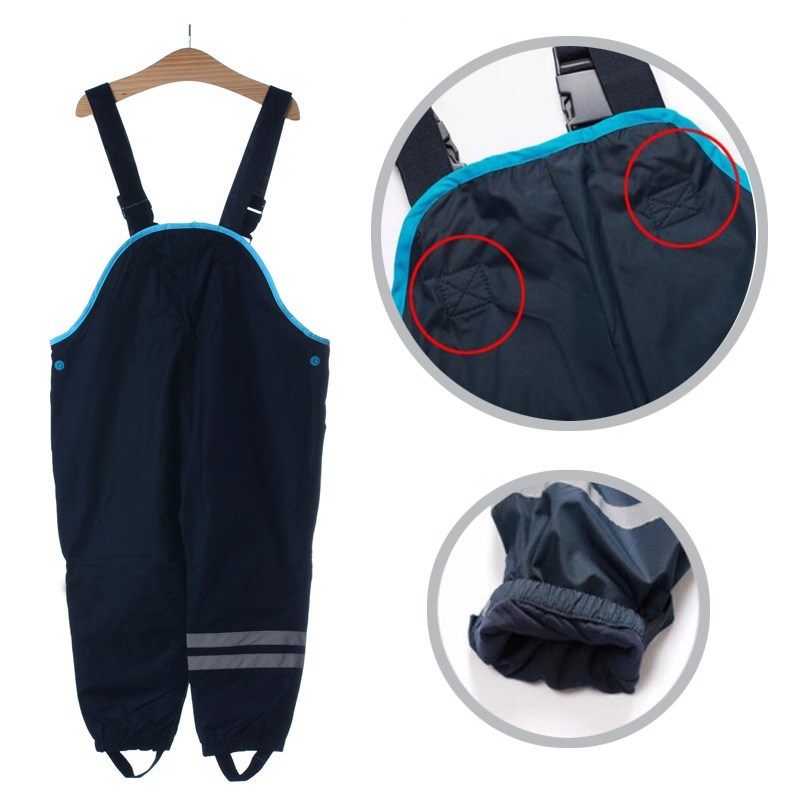 Boys and girls suspenders beach pants children rain pants waterproof ski pants windproof bib pants 5