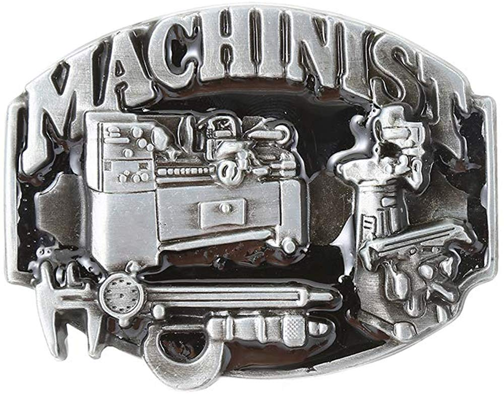 Gray Mechinist Tool  Belt  Buckle For Man Western Cowboy Buckle Without Belt Custom Alloy Width 4cm