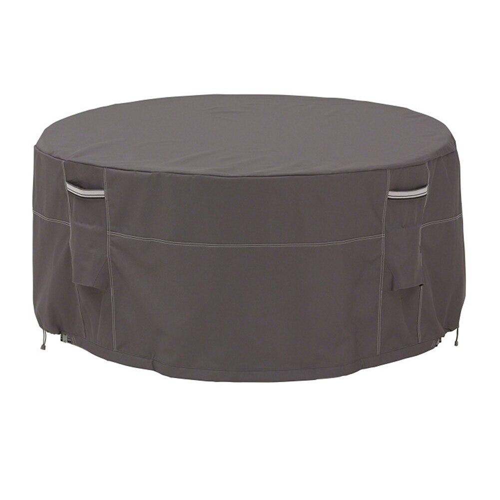 Extérieur imperméable meubles protéger été hiver soleil ombre résistant aux UV Anti poussière jardin Table ronde couverture Patio résistant aux intempéries