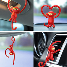 Vehicle Air Purifier Monkey Multifunctional Vehicle Ornaments Solid Aromatherapy for Vehicle Decoration Gifts air purifier tecnologia inteligente vehicle air purifier deformaldehyde vehicle use oxygen bar incense pm2 5