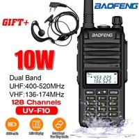 4800mah Baofeng BF UVF10 Walkie Talkie VHF UHF Dual Band Handheld Two Way Radio VHF UHF Portable Radio 15km Talk Range