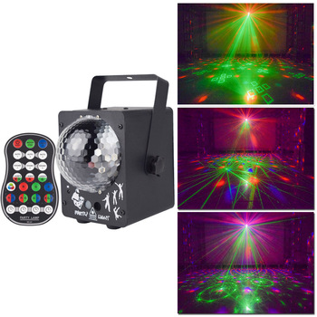 Led Disco Light Stage Lights DJ Disco Ball Lamp Sound Activated Laser Projector Effect Light for Music Christmas Party Bar 18w stage lamp dj disco crystal rotating light magic ball for ktv bar home 15 color voice activated party effect sound music