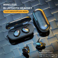 Ottwn Y30 TWS Bluetooth Wireless Earphone Sport Wireless Bluetooth 5.0 Earbuds Handfree Portable with Charging Box Stereo Sound