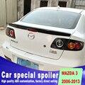 Встроенный Золотой код спойлер для 2006 до 2013 задний багажник спойлер Крылья mazda 3 ABS Материал грунтовка или черно-белые спойлеры