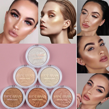 6 Color Highlighter Make Up Palette Iluminador Face High Lighter Bronzer Contour Powder Long Lasting Shimmer Face Glow Highlight