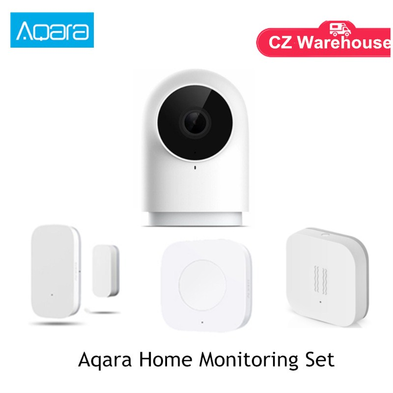 Aqara Home Monitoring Set G2 1080P Camera Door Sensor Vibration Sensor Smart Wireless Key Works WIth Mihome APP (Hot Sale)