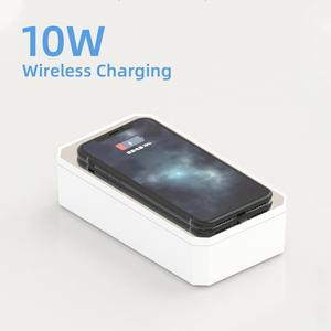 Image 4 - LED UV sterilizatör kutusu telefon 10W kablosuz hızlı şarj makyaj aynası temiz sterilizasyon çok fonksiyonlu taşınabilir depolama