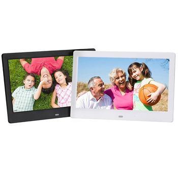 Marco de fotos Digital de pantalla panorámica de 10,1 pulgadas 1024x600 HD Ultra delgado LED electrónico álbum de fotos marco de fotos LCD