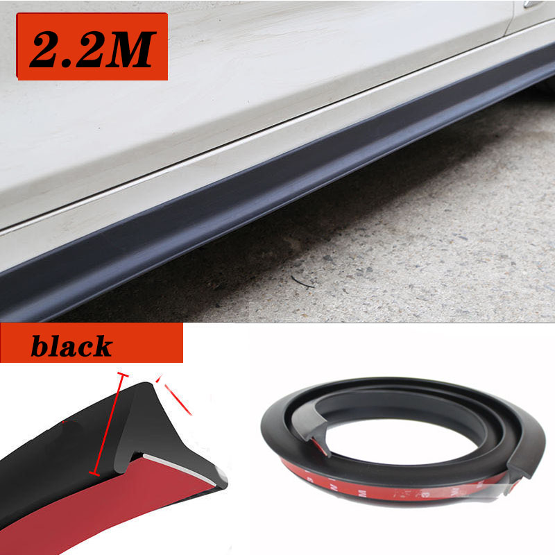 2 2m Car Side Skirt Extensions Splitters For Audi A3 A4 B8 A6 Q5 C7 8v B5 Mercedes Benz W203 W204 W205 W124 W212 AMG