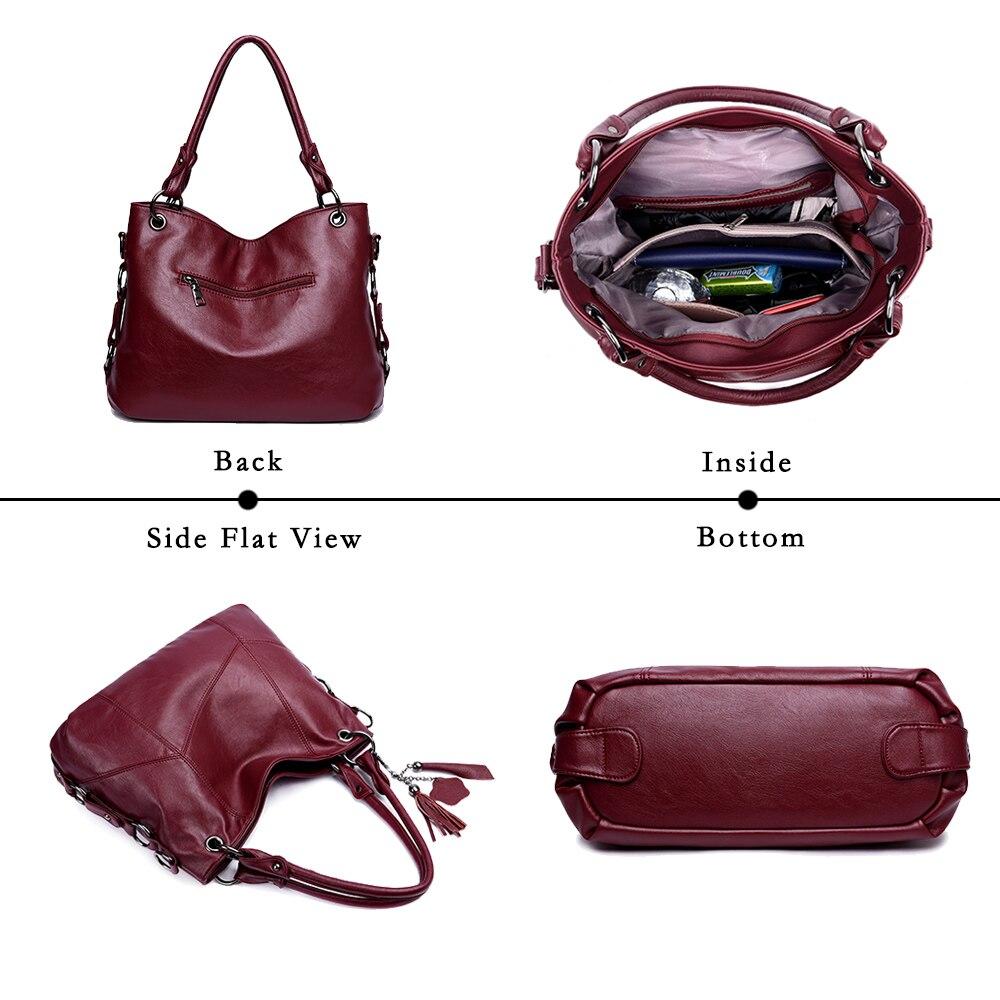 Image 5 - Lanzhixin Women Leather Handbags Women Messenger Bags Designer Crossbody Bag Women Bolsa Top handle Bags Tote Shoulder Bags 819S-in Shoulder Bags from Luggage & Bags