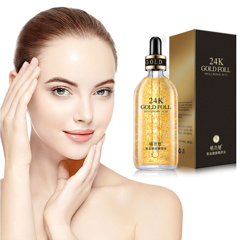 100ML 24K Gold Tense Moisture Essence Pure Hyaluronic Acid Serum Anti-wrinkle Gold Nicotinamide Liquid Skin Care Essence