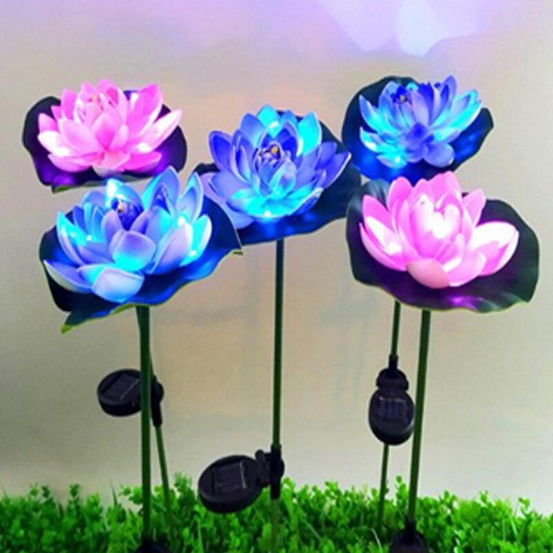 do jardim lâmpada luminosa flor de lótus