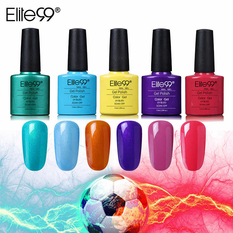 Elite99 7,3 ml Gel UV Soak off largo color duradero Gel para barniz en Gel de esmalte de uñas laca necesita lámpara UV Base de curado esmalte superior DIY