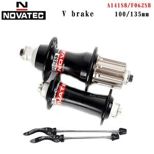 NOVATEC bicycle hubs Bicycle accessories MTB 32 holes V-brake A141SB F062SB 100mm 135mm 4 bearing Bicicleta parts bike hubs