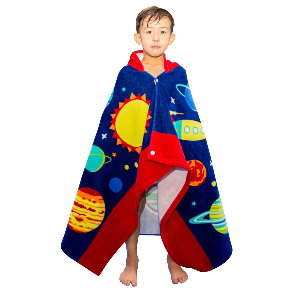 criancas roupao de banho toalha banho 02