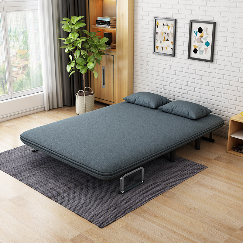 Multifunctional Folding Sofa Bed, Small Apartment Living Room, Lazy Fabric, Detachable And Washable Double Single Dual-purpose F