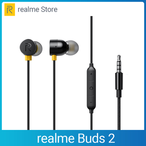 Image 1 - realme Buds 2 Earphone 3.5mm Earbuds In Ear Wired Magnetic Earphone Music Headset For Smartphone realme 6 Pro 6 6i X50 Pro X2