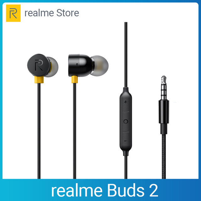 realme Buds 2 Earphone 3.5mm Earbuds In Ear Wired Magnetic Earphone Music Headset For Smartphone realme 6 Pro 6 6i X50 Pro X2