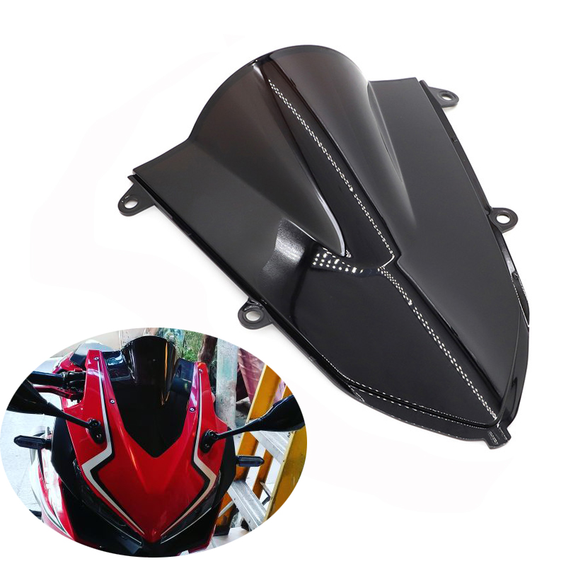Double Bubble Motorcycle Windshield WindScreen screen For Honda CBR500R CBR400R <font><b>CBR</b></font> <font><b>500R</b></font> 400R <font><b>2019</b></font> 2020 <font><b>CBR</b></font> 400 500 R image