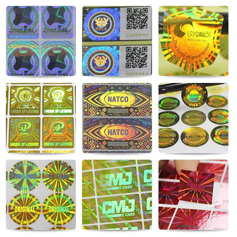 Индивидуальная голограмма, антифальшивые защитные наклейки, этикетки, одноразовая печать, голограмфная наклейка