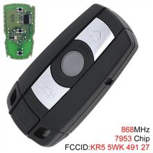 3 Buttons Keyless Remote Key 7953 Chip for For-BMW CAS3 System  X5 X6 Z4 1 / 3 / 5 / 6 / 7 Series Vehicle Smart  2002-2013 315 433 868 mhz smart remote key 4 buttons for bmw 3 5 7 series cas4 system 2009 2010 2011 2012 2013 2014 2015 2016 kr55wk49863