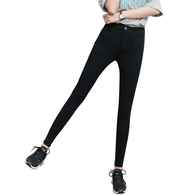 Little women pencil pants eight points small 2019 new thin wild magic white black trousers nine minute pants denim pant women in Pants amp Capris from Women 39 s Clothing