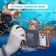 Caso de natação à prova dwaterproof água para o iphone 11 pro x xr xs max 6s 7 8 mais 15m casos de telefone de mergulho para samsung galaxy note 8 9 10 s8 s9