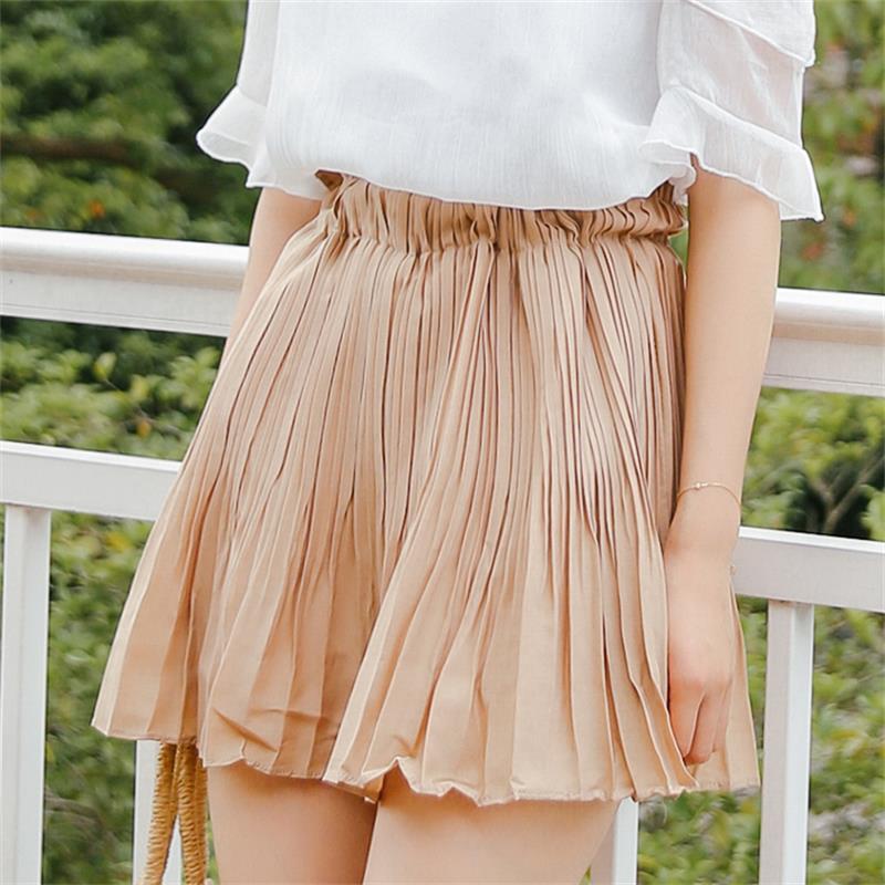 Women's Skirts Korean Punk Harajuku Ulzzang Fresh College Wind Pleated Skirt Female Cute Japan Kawaii Button For Women