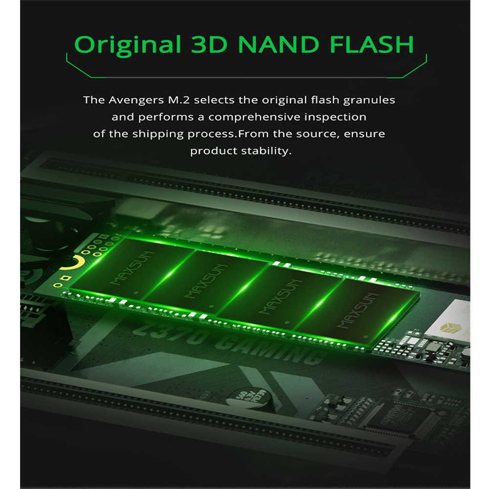 MAXSUN m2 ssd 2280 nvme ssd m.2 3D NAND แฟลช SMI 2263XT PCIe (NGFF) gen3 X 4 m.2 ssd 1500 เมกะไบต์/วินาทีสามปีแล็ปท็อปเดสก์ท็อป
