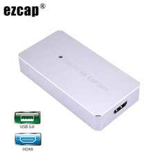 USB 3.0 HDMI Game Capture Card Full 1080P 60fps Video Capture Box OBS Live Streaming for IPhone PS4 XBOX Switch Broadcast Plate