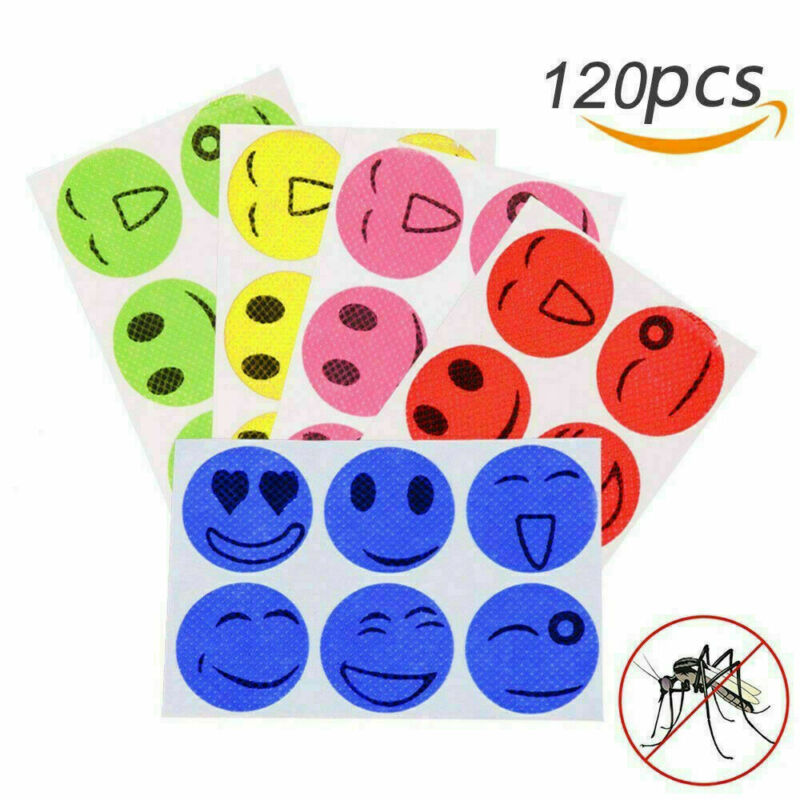 120Pcs Mosquito Repellent Patch SmileFace Anti Mosquito Sticker Repeller Baby Family Mosquito Killer Trap Insect Pest Control