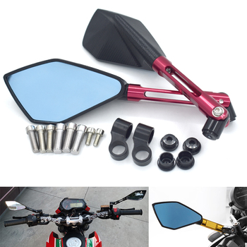 Rearview mirror motorcycle general integral CNC aluminum alloy racing scooter battery car rearview mirror For Suzuki BANDIT 1200 image