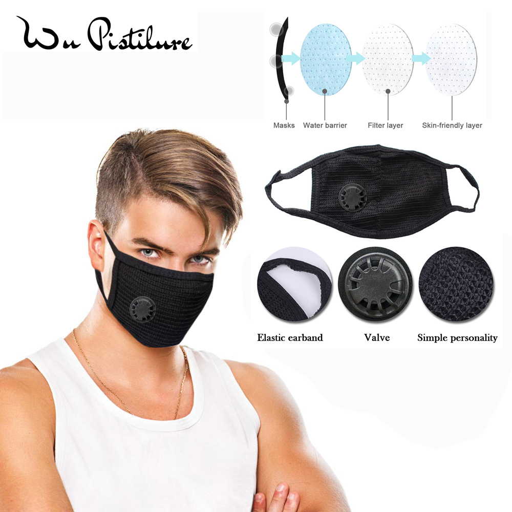 Anti Pollution Mask Dust Respirator Washable Reusable Masks Cotton Yarn Unisex Mouth Muffle For Allergy Travel Cycling