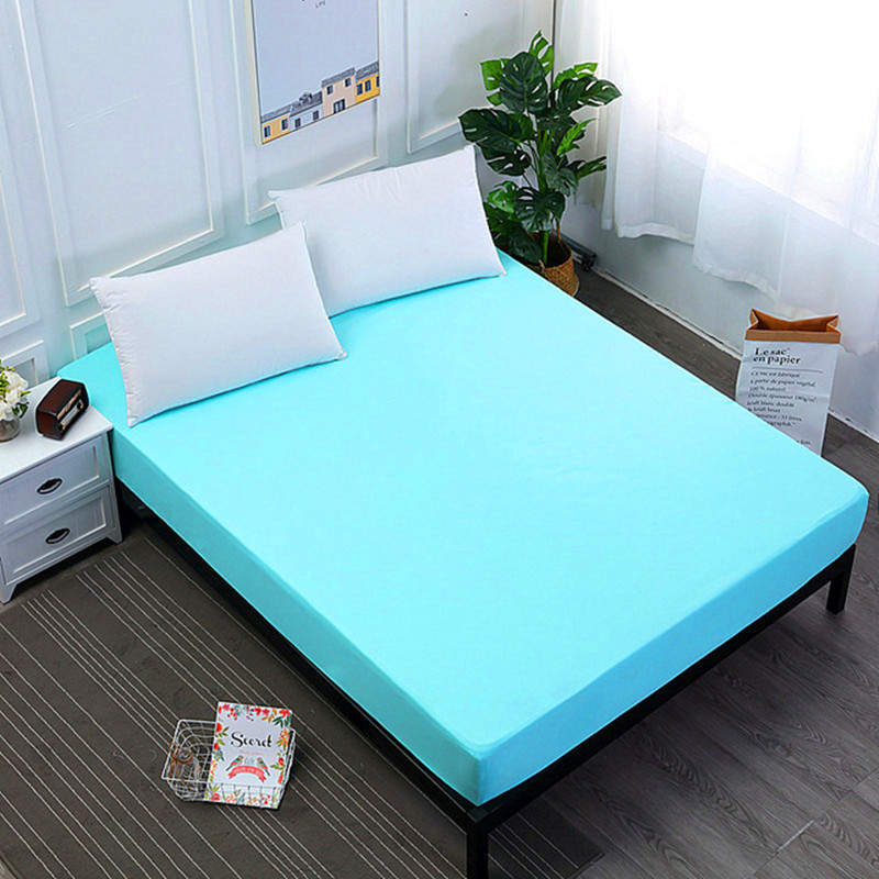 Bed Cover Sheet Mattress Cover Bed Linen With Elastic Band Mattress Protector Pad 100%Polyester King Size Bedding Set
