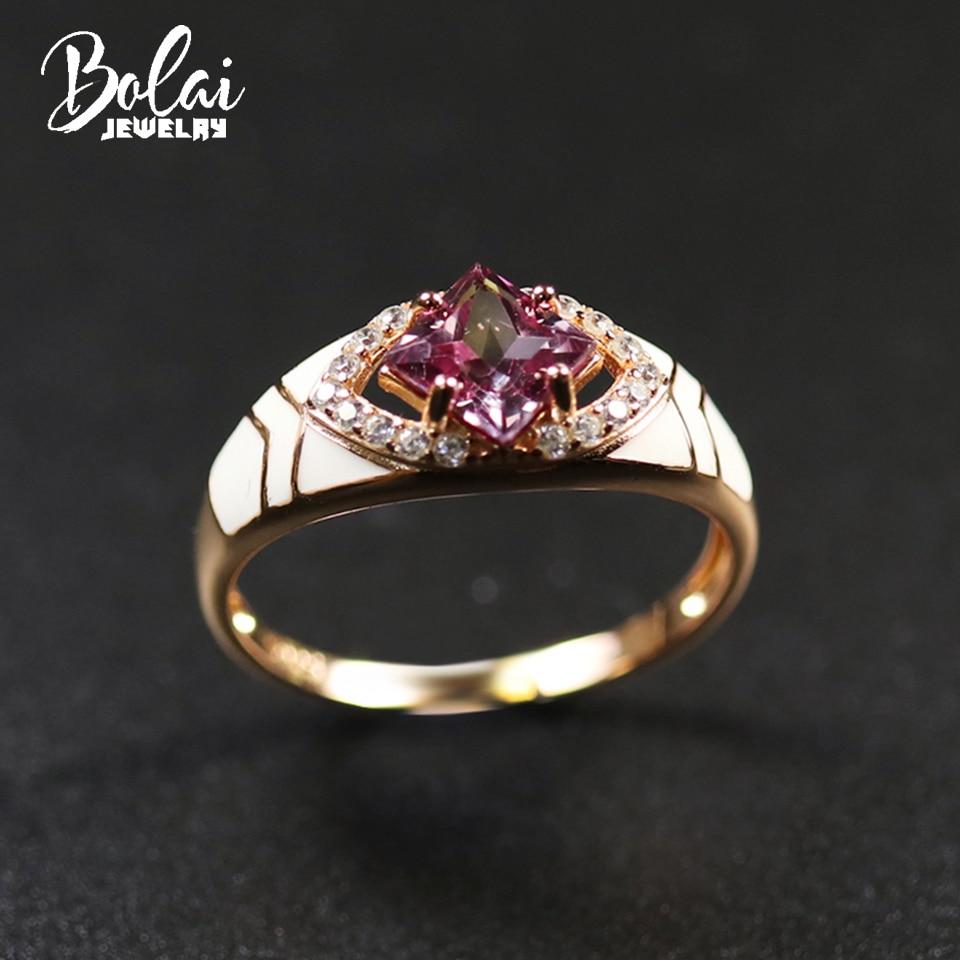 Color Change Alexandrite Ring Genuine 925 Sterling Silver Enamel Created Gemstone Fine Jewelry for Women Ladies Rings Gift 2020