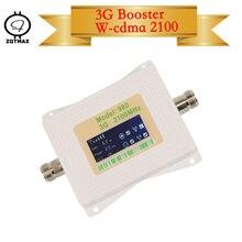 ZQTMAX 62db 3G sinyal güçlendirici 2100 MHz bant B1 UMTS hücresel amplifikatör mini lcd ekran