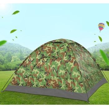 Водонепроницаемая палатка для кемпинга на 2, 3-4 человека, портативная камуфляжная палатка с защитой от УФ-лучей, 2MX2M, 1,5 м, легкая пляжная охот...