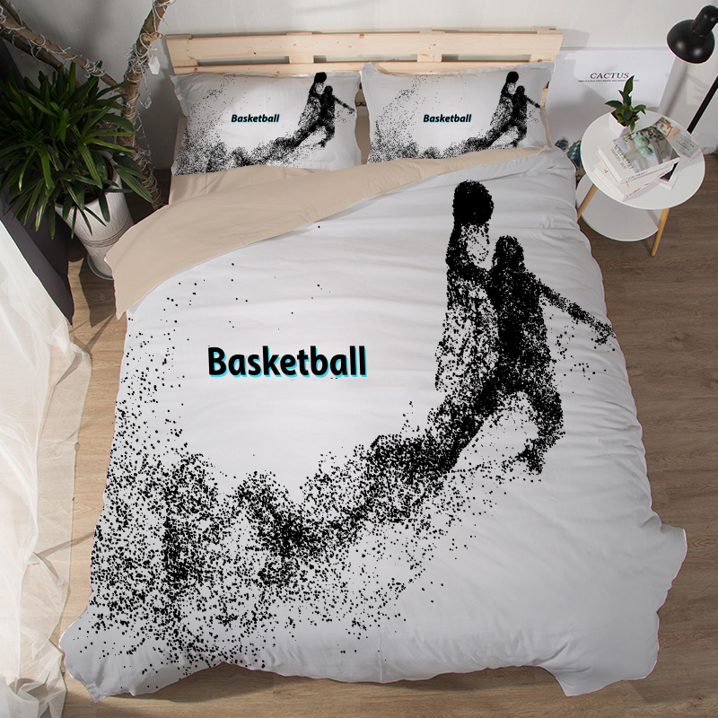 Sports Basketball Bedding Set Duvet Covers Pillowcases Football Boxing Bed Set Comforter Bedding Sets Bedclothes Bed Linen