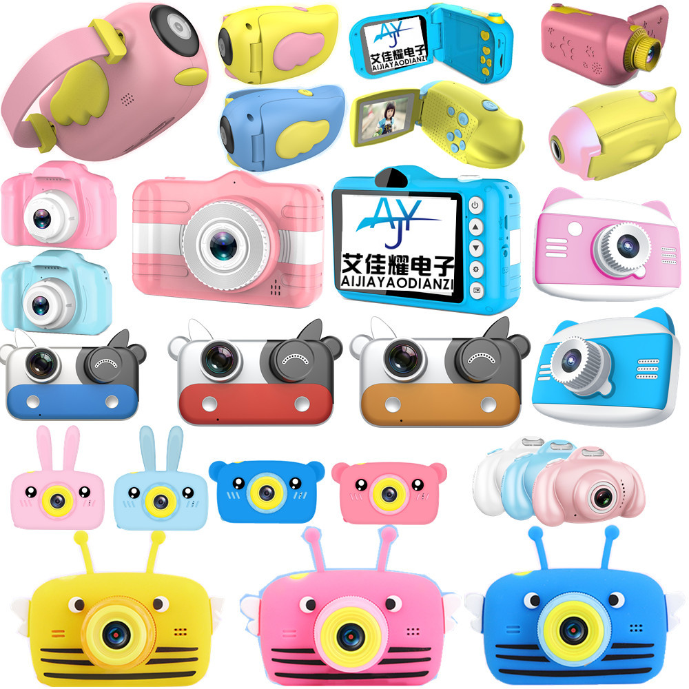 Children Cartoon Digital Camera Baby Creative X5S Dual Camera Photography Training Gifts HD Digital Camera Educational Toys