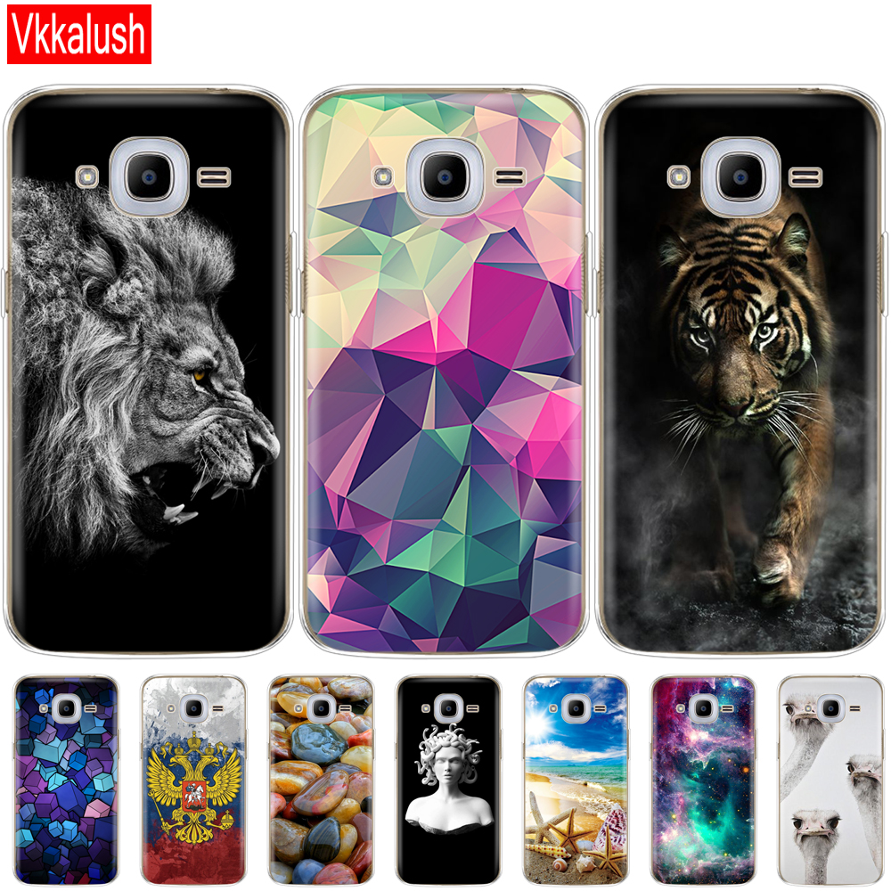 Image 2 - Soft TPU Case For Samsung J2 2016 For Galaxy J2 2016 SM  J210 back cover 360 full protective printing transparent case coque-in Fitted Cases from Cellphones & Telecommunications