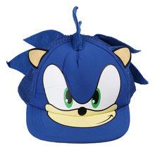 Hats Baseball-Hat Snapback Sonic Cartoon-Cap Hiphop Adjustable Flat Blue Fashion Cosplay