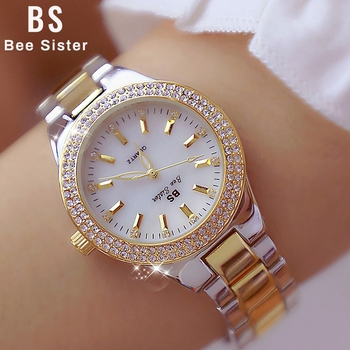 2020 Watch Famous Quartz Ladies Wrist Watches Dress Gold Watch Women Crystal Diamond Watches Silver Clock Women Montre Femme ibso hit color watches for female fashion cut glass design women quartz watch ladies magnet buckle wrist watches montre femme