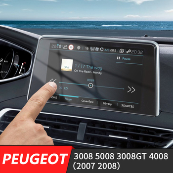 233*133mm Car Center Console LCD Screen Sticker GPS Navigation Screen Tempered Steel Protective Film FOR Peugeot 3008 4008 image