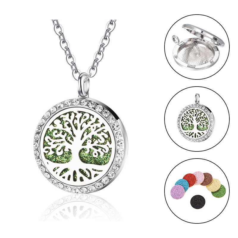 Essential Oil Diffuser Necklace Pendant Stainless Steel Zodiac Capricorn