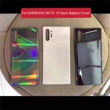 Couvercle de batterie en verre de coque arrière de remplacement pour Samsung Galaxy Note 10 Note10 + téléphone N9760 N9700 pièces de rechange