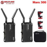 Hollyland Mars 300 sistema de transmisión inalámbrica transmisor y receptor Kit 300ft 1080P 60Hz para cámaras SLR sin espejo cardán