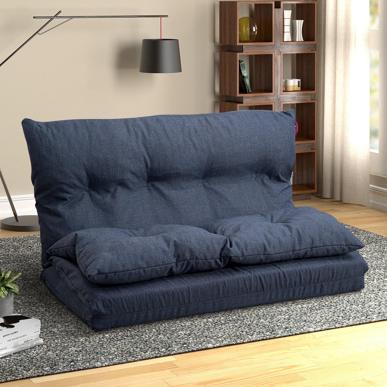 2 места ленивый пол диван мебель для гостиной современный сплошной цвет спальня диван пол диван ткань складной шезлонг