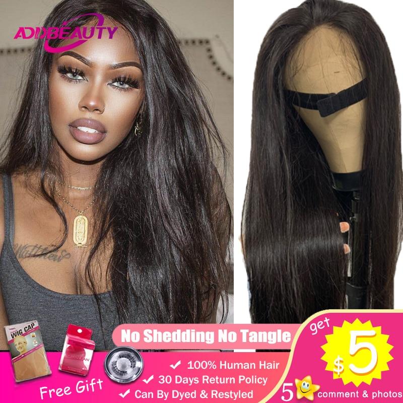 Straight 13x4 13x6 HD Transparent Lace Frontal DIY Custom Wigs For Black Women Brazilian Virgin 150% 180% Density PrePlucked