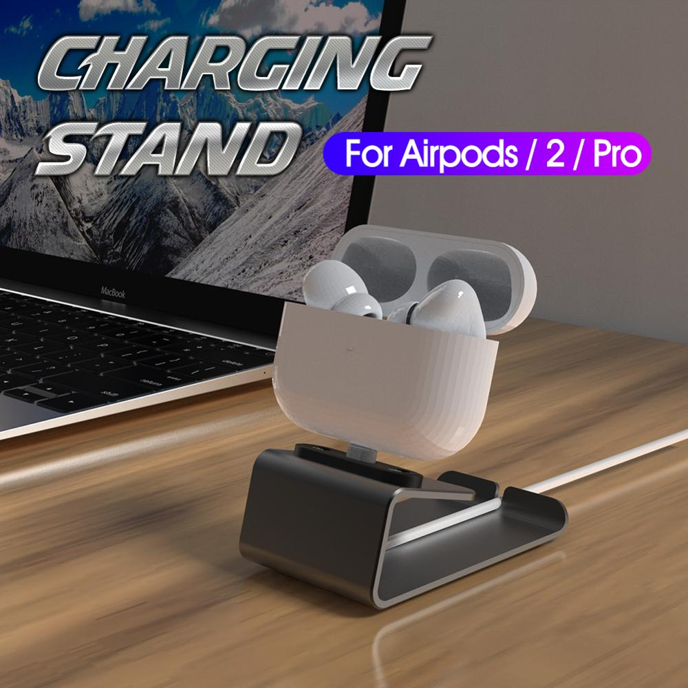 Aluminum Charging Stand For Airpods 2 Pro Mini Desk Charger Dock Station  Mobile Table Phone Holder For IPhone 5 6 7 8 X 11 SE