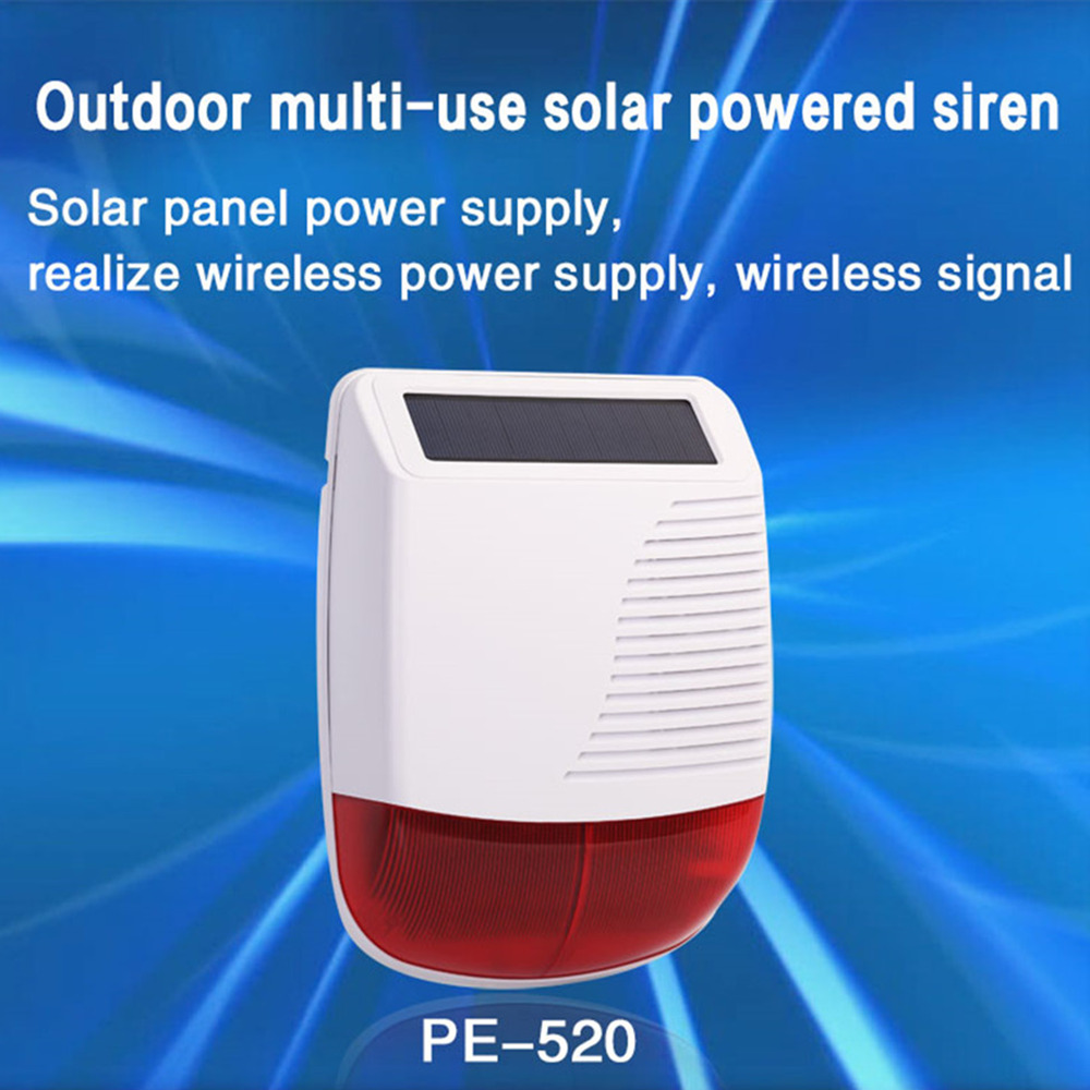 New 433MHz Wireless Light Flash Strobe Outdoor Solar Waterproof Siren For Home Burglar Wifi GSM Home Security Alarm System